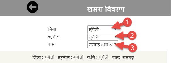 select-district-tehsil-village
